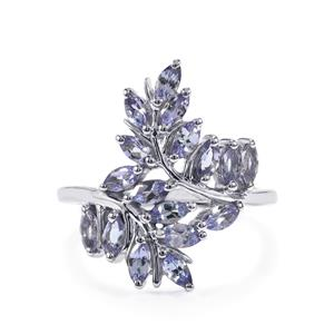 Tanzanite Ring in Sterling Silver 1.44cts