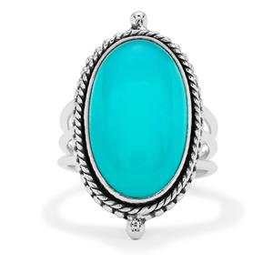 Aqua Chalcedony Ring  in Sterling Silver 10cts