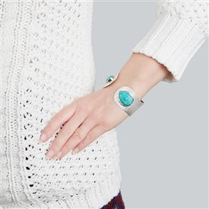 Cochise Turquoise Bangle in Sterling Silver 31.48cts