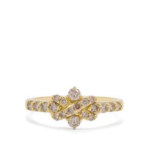1/2ct Champagne Argyle Diamond 9K Gold Ring