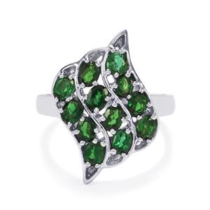 1.69ct Chrome Tourmaline Sterling Silver Ring