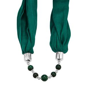 Malachite Beaded Scarf/Necklace ATGW 165cts