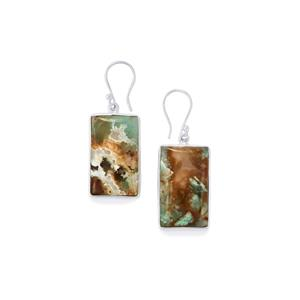 Aquaprase™ Earrings in Sterling Silver 40.22cts
