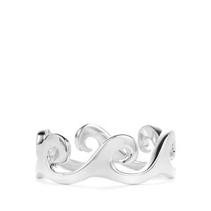 Sea Wave Ring in Sterling Silver