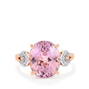 Mawi Kunzite Ring with Diamond in 18K Rose Gold 6.29cts