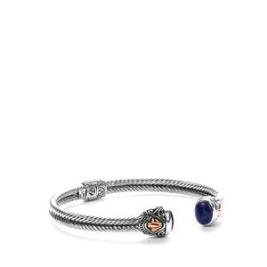 Samuel B Lapis Lazuli Bangle in Sterling Silver 6.8cts