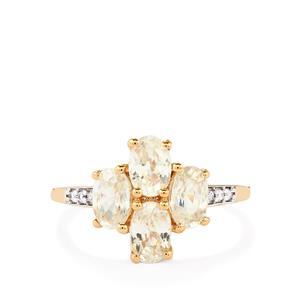 3.43ct White Zircon 10K Rose Gold Ring