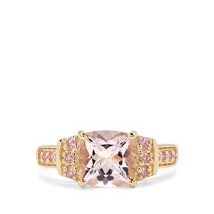 Nigerian Morganite & Pink Sapphire 9K Gold Ring ATGW 2.07cts