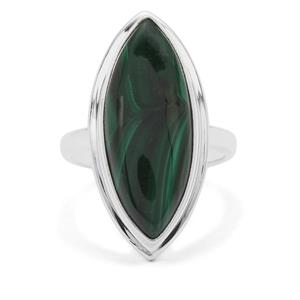 Malachite Ring in Sterling Silver 13.10cts
