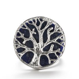 9cts Sar-i-Sang Lapis Lazuli Sterling Silver Tree Of Life Ring