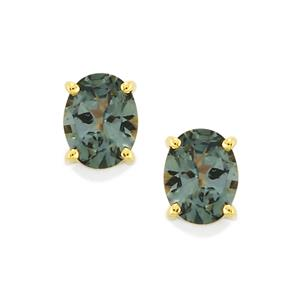 Mahenge Blue Spinel Earrings in 9K Gold 0.73cts