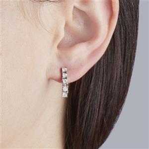 Diamond Earrings in Sterling Silver 0.08ct