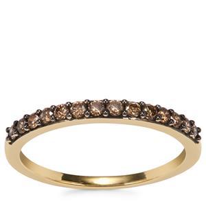 Champagne Diamond Ring in 10K Gold 0.28ct