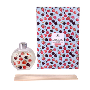 Berry Fruit Infusions Reed Diffuser - Summer Berry & Rose Fragrance with Strawberry Quartz ATGW 30cts