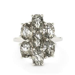 4.80ct Tourmalinated Quartz Sterling Silver Ring