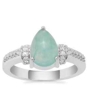 Aquaprase™ Ring with White Zircon in Sterling Silver 2.01cts
