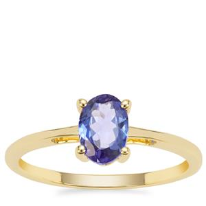 AA Tanzanite Ring in 9K Gold 0.76ct