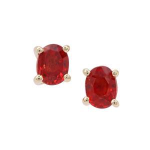 Songea Ruby Earrings in 9K Gold 0.45ct