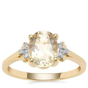 Serenite Ring with Diamond in 9K Gold 1.77cts
