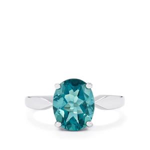 3.10ct Tucson Green Fluorite Sterling Silver Ring