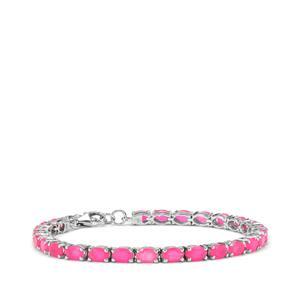 7.41ct Pink Opal Sterling Silver Bracelet