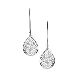 White Topaz Earrings in Sterling Silver 0.61cts