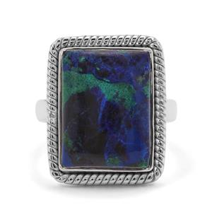 11.35ct Azure Malachite Sterling Silver Aryonna Ring