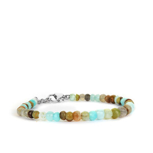 29.06ct Peruvian Opal Sterling Silver Graduated Bracelet
