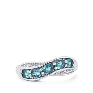Orissa Kyanite & White Zircon Sterling Silver Ring ATGW 1.12cts