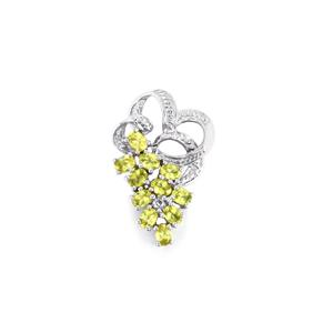 Ambilobe Sphene Pendant with White Topaz in Sterling Silver 2.04cts