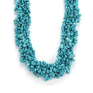 471.50ct Turquoise Sterling Silver Necklace