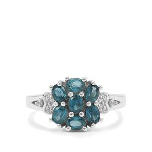 Orissa Kyanite Ring with White Zircon in Sterling Silver 1.75cts