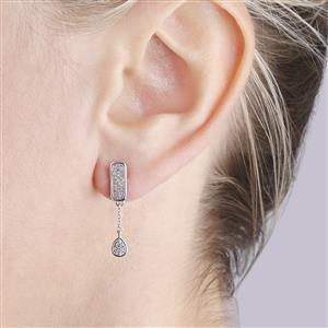 Diamond Earrings in Sterling Silver 1/5ct