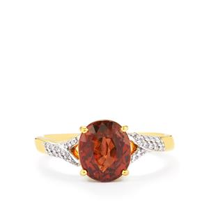 Colour Change Garnet & Diamond 18K Gold Tomas Rae Ring MTGW 3.14cts