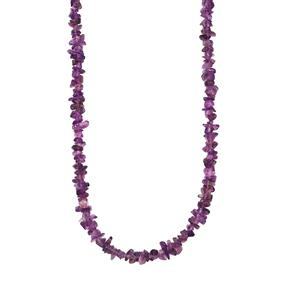 100'' Zambian Amethyst Nugget Bead Necklace 425cts