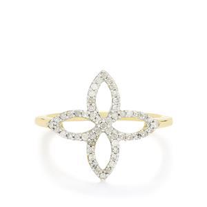 Diamond Ring  in 10k Gold 0.25ct