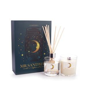 Mr Sandman Sleep Set - Candle and Reed Diffuser, Lavender Fragrance with Amethyst ATGW 12cts