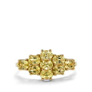 Brazilian Chrysoberyl Ring in 10k Gold 1.79cts