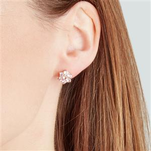 Mozambique Pink Spinel Earrings  in 9K Gold 1.82cts