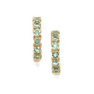 Alexandrite Earrings in 10K Gold 1.40cts