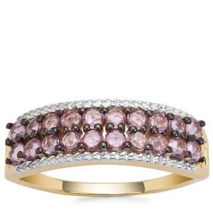 Sakaraha Pink Sapphire Ring in 9K Gold 0.84ct