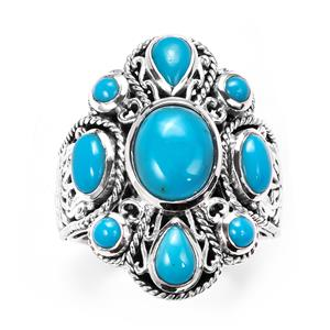Samuel B Sleeping Beauty Turquoise Ring  in Sterling Silver 2.97cts