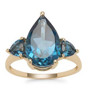 Marambaia London Blue Topaz Ring in 9K Gold 6.45cts