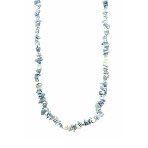 100ct Blue Opal Nugget Bead Necklace