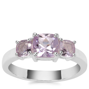 Rose du Maroc Amethyst Ring with Rose De France Amethyst in Sterling Silver 1.50cts