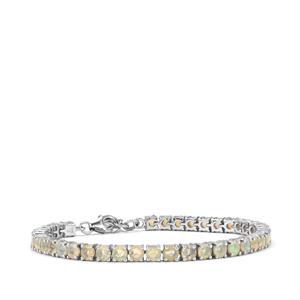 Ethiopian Opal Bracelet in Sterling Silver 7.42cts