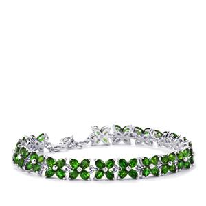 Chrome Diopside Bracelet in Sterling Silver 13.50cts