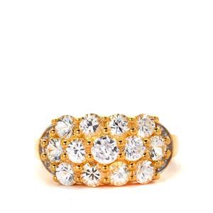 Sri Lankan Sapphire & White Topaz Ring ATGW 2.51cts