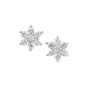 Diamond Earrings in Platinum 950 0.26ct