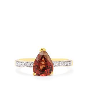 Colour Change Garnet & Diamond 18K Gold Tomas Rae Ring MTGW 2.31cts